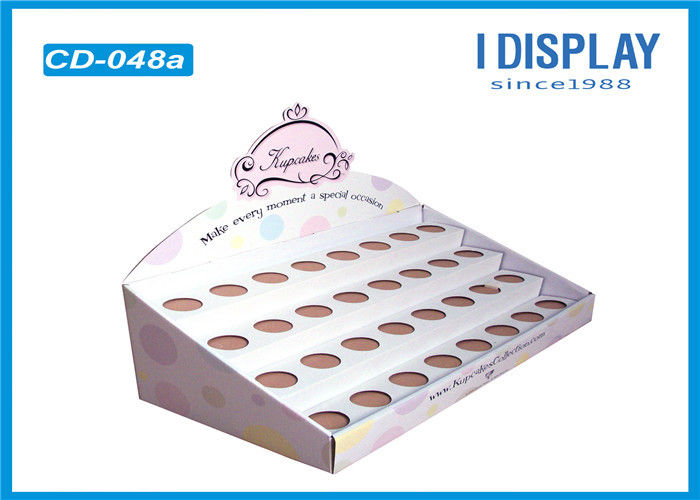 Cardboard Table Display Stands Boxes , Corrugated Counter Display  For Nail Polish