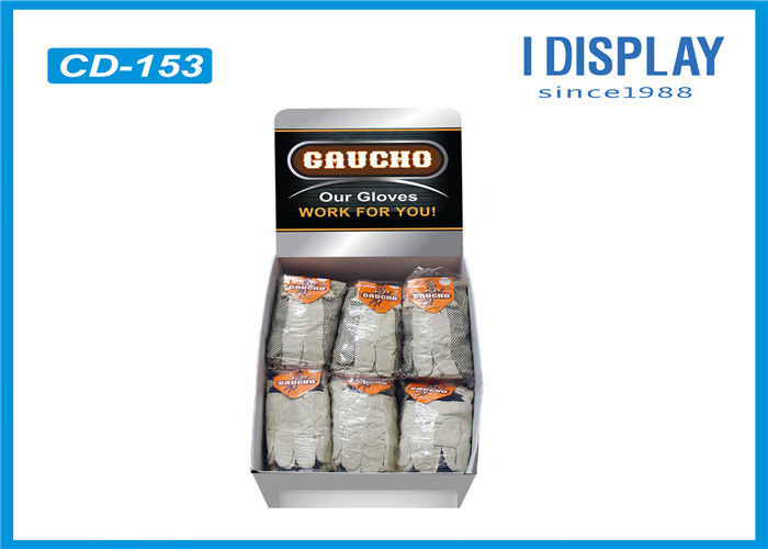 Corrugated Gloves Cardboard Counter Display With Reinforce Pad